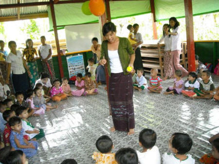 Child Friendly Spaces in Myanmar